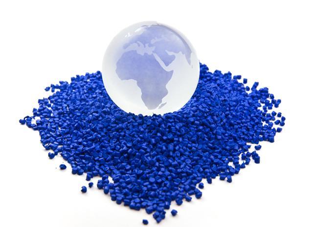 Hạt nhựa PVC màu xanh